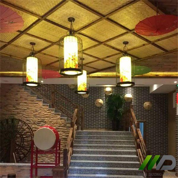 mành cót tre nhân tạo Trang Trí kiến trúc trần nhà