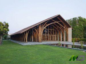 Thiết kế kiến trúc nhà bằng tre nhân tạo